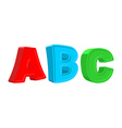 ABC colorful letters vector image vector image