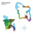 abstract color map of bangladesh