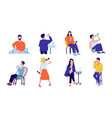 alcohol addiction drunk men and women people vector image