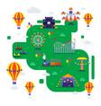 amusement park summer vector image