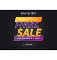 Banner Final Sale on black vector image