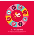 Be My Valentine Concept vector image vector image