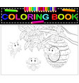bee coloring book vector image vector image