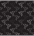 birds outline on black seamless pattern background vector image vector image