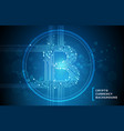 bitcoin business abstract blue background vector image vector image