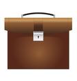 briefcase brown vector image vector image
