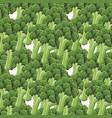 broccoli seamless pattern vector image