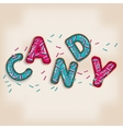 candy logo design 3d letters vector image vector image