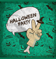 cartoon halloween greeting poster vector image vector image