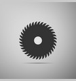 circular saw blade icon saw wheel vector image