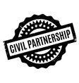 Civil Partnership rubber stamp vector image