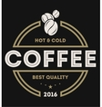 Coffee shop vintage isolated label logo vector image