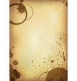coffee stained paper vector image