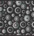 cogwheel seamless pattern silver color gradient vector image