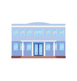 college facade building front view vector image