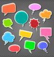 comic speak bubbles on transparent background vector image