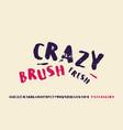 cyrillic handwritten brush font in grunge style vector image