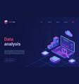 data analysis financial analytics isometric vector image vector image