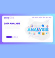 data analysis web template vector image vector image