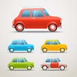 Different color retro cars set Vintage vehicle Ol vector image vector image