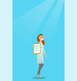 doctor with a clipboard vector image vector image