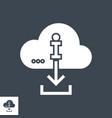download information glyph icon vector image vector image