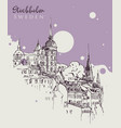drawing sketch stockholm vector image vector image