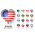 flags icon countries north america vector image