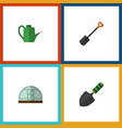 flat icon farm set of hothouse spade trowel and vector image vector image