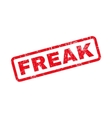 Freak Text Rubber Stamp vector image vector image