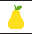 fresh yellow pear vector image