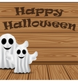 Ghost in on Halloween vector image