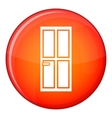 Glass door icon flat style vector image vector image
