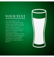 Glass of beer flat icon on green background vector image vector image