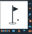golf flag icon flat vector image vector image