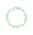 green wedding flowers floral frame decor vector image