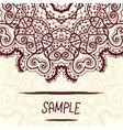 Half-full mandala design a lot of copyspace vector image vector image