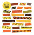 halloween tape strips orange and black halloween vector image