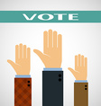 Hands raised up for a vote vector image vector image