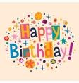 Happy Birthday 7 vector image vector image