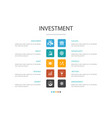 investment infographic 10 option template profit vector image vector image