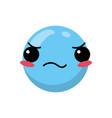 isolated blue emoticon design vector image