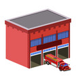 isolated fire station vector image