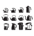 kettle icons set vector image