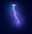 lightning flash bolt blue lightning template vector image vector image