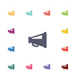 loudspeaker flat icons set vector image vector image