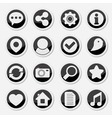 Media social round icons vector image