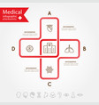 Medical health and healthcare icons and