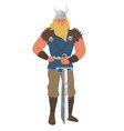 medieval viking man icon isolated on white vector image vector image