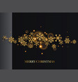 merry christmas golden glitter snowflakes on dark vector image vector image